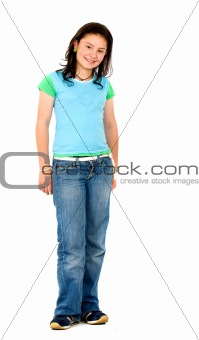 casual teenager standing