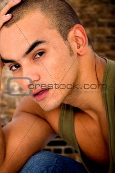 casual male model portrait