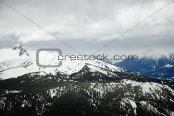 Ski resort mountain with snow.