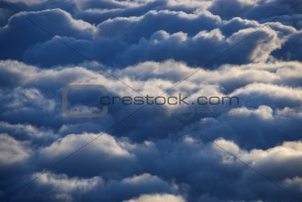 Aerial of clouds.