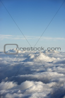 Aerial view of clouds.
