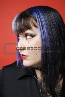 Portrait of Caucasian woman.