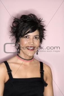 Portrait of Hispanic woman.