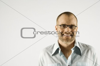 Portrait of Caucasian man.