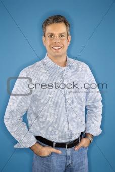 Caucasian man portrait.