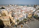 View from cathedral in Cadiz over main Plaza