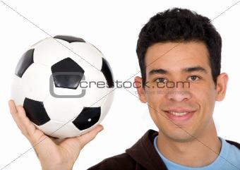 friendly soccer player