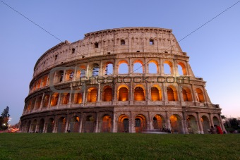 colosseum at dusk