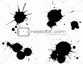 4 Black Splats