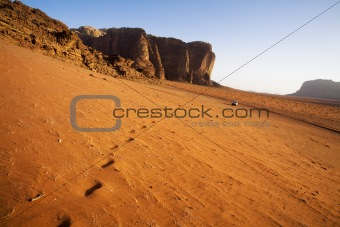 the wadi run desert