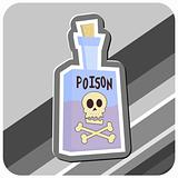 Bottle of Poison Illustration