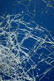 Cracked glass.