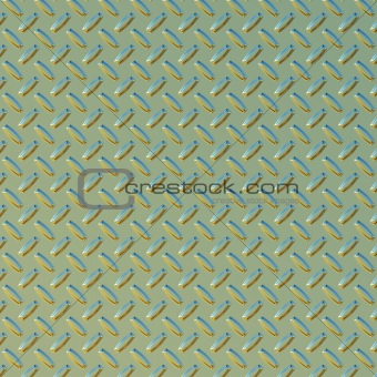 green and gold diamond plate