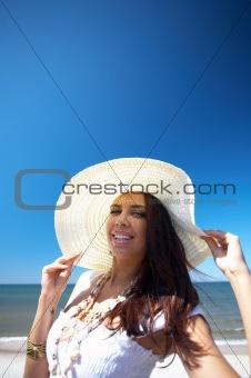 Beautiful Woman at seaside