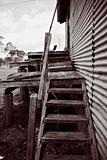 the rickety stairs