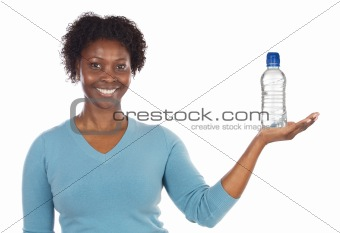 American woman with water«s bottle