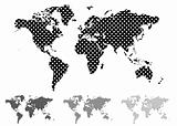 halftone world map