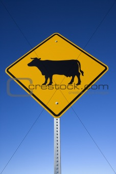 'Cattle on Road' Sign