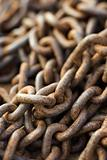 Pile of Rusty Chain