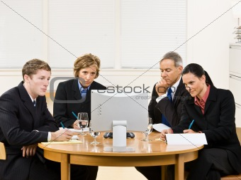 Business people in video meeting