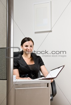 Businesswoman working at desk