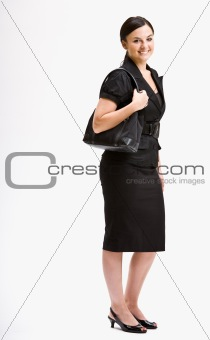 Smiling businesswoman in suit