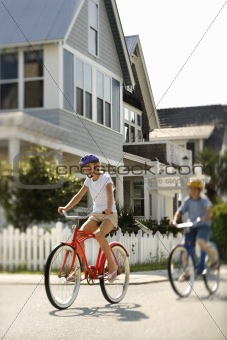 Teens Riding Bicycles