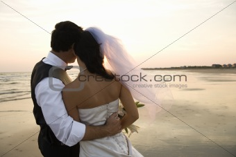 Newlywed Couple on Beach