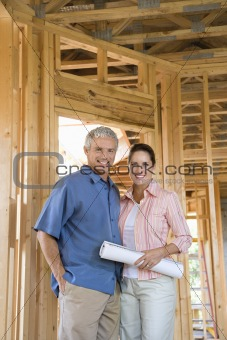 Couple Building Home