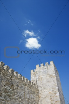 Ancient Castle Battlement and Tower