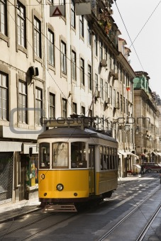 Streetcar in the City of Lisbon