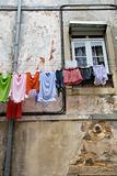 Laundry Drying on a Clothesline