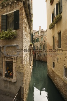 Back Alley Waterway in Venice