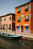 Buildings and Boat on Canal in Venice