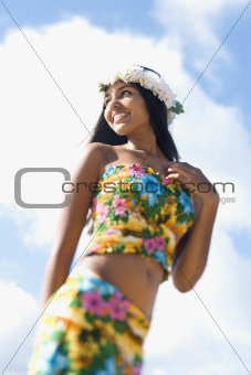 Attractive Young Hawaiian Woman