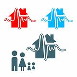 Earthquake insurance icon