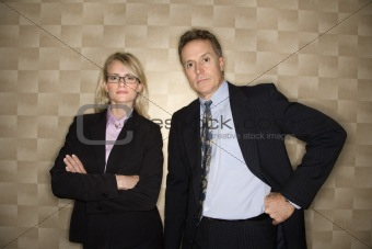Businessman and Businesswoman Portrait
