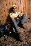 Resting Construction Worker