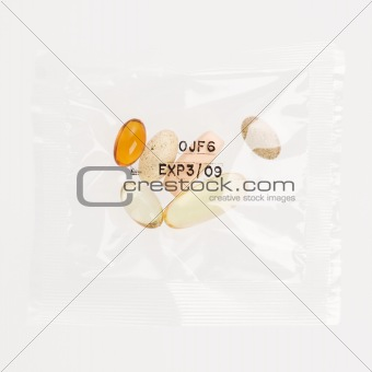Daily Vitamin Supplement Pack. Isolated