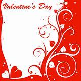 valentine design card