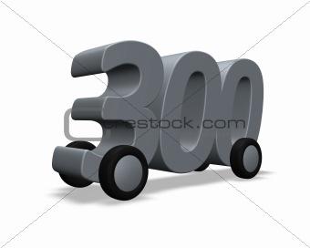 three hundred on wheels