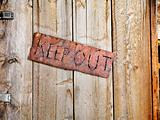 Sign on Old Door