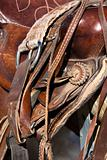 Horse Saddle on a Rail