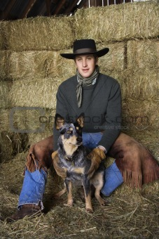 Attractive Young Man Wearing Cowboy Hat