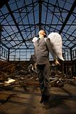 Young Businessman With Angel Wings