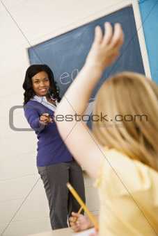 Teacher Calling on Student