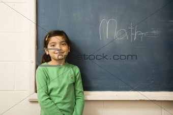 Student at Chalboard