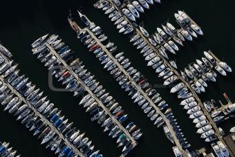 Aerial of Sydney Marina