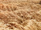 Hills in the South Dakota Badlands
