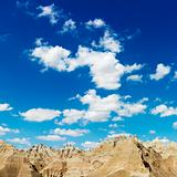 Mountains and Blue Sky in the South Dakota Badlands